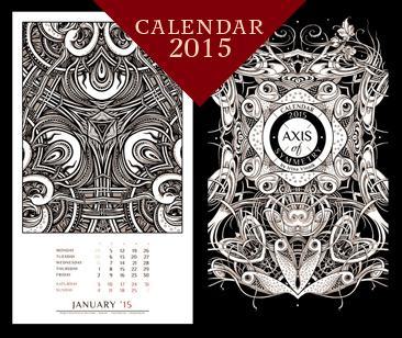 Axis os Symmetry. Calendar 2015 by Irina Vinnik